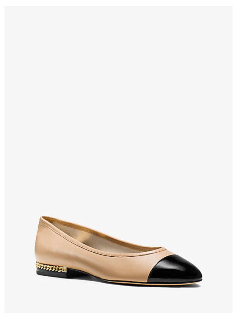 Sabrina Cap-Toe Leather Flat