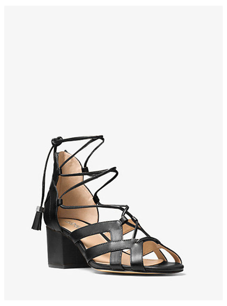 Mirabel Leather Lace-Up Sandal