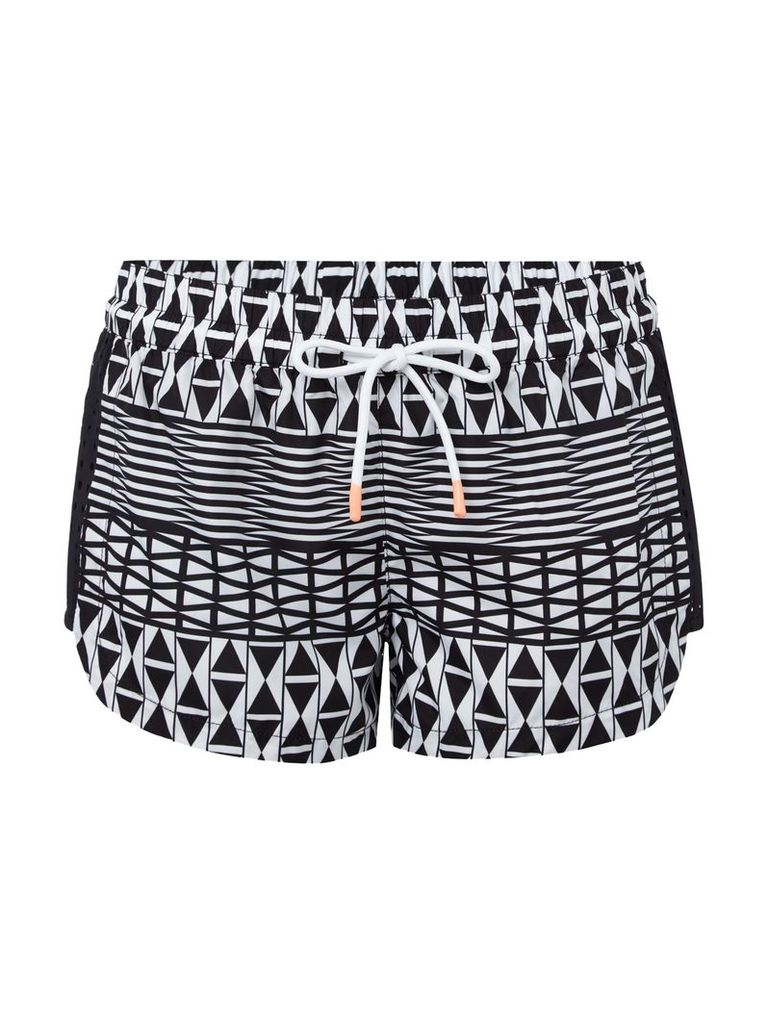Seafolly Modern geometry mesh side short, Black