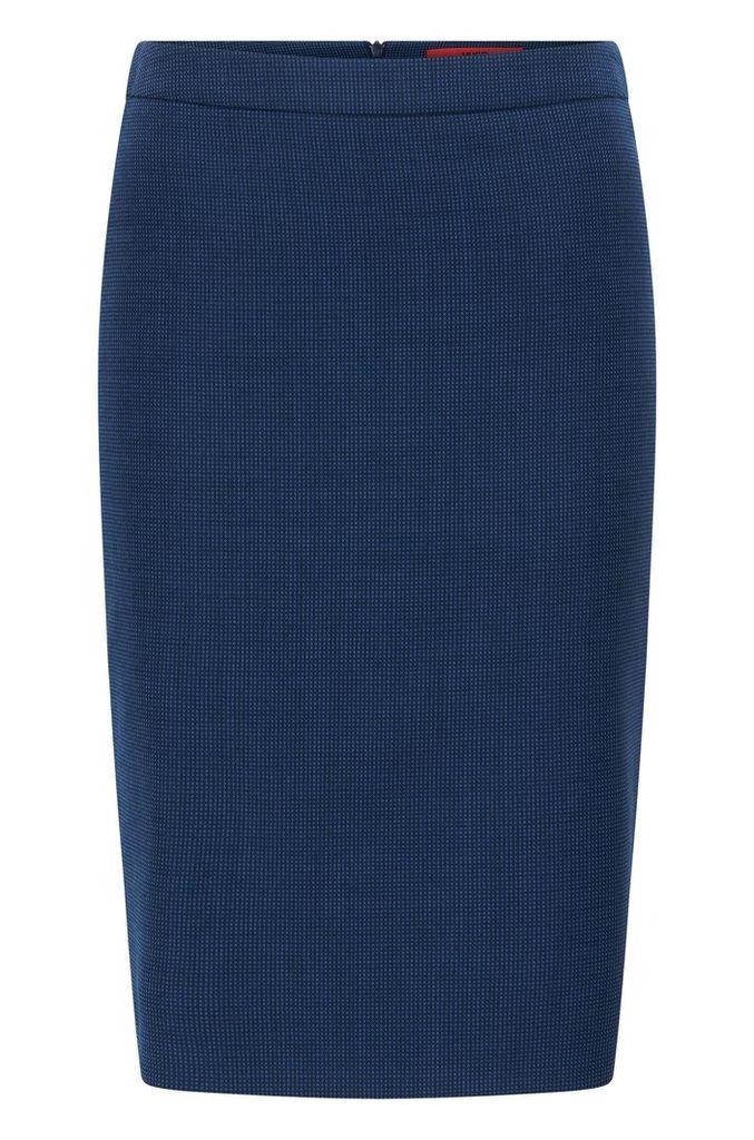 Regular-fit pencil skirt in virgin wool