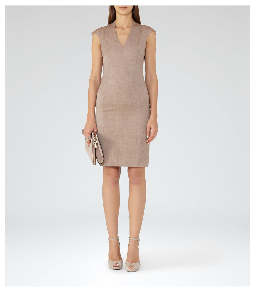 REISS Turner Dress  - Womens Tailored Dress in Red