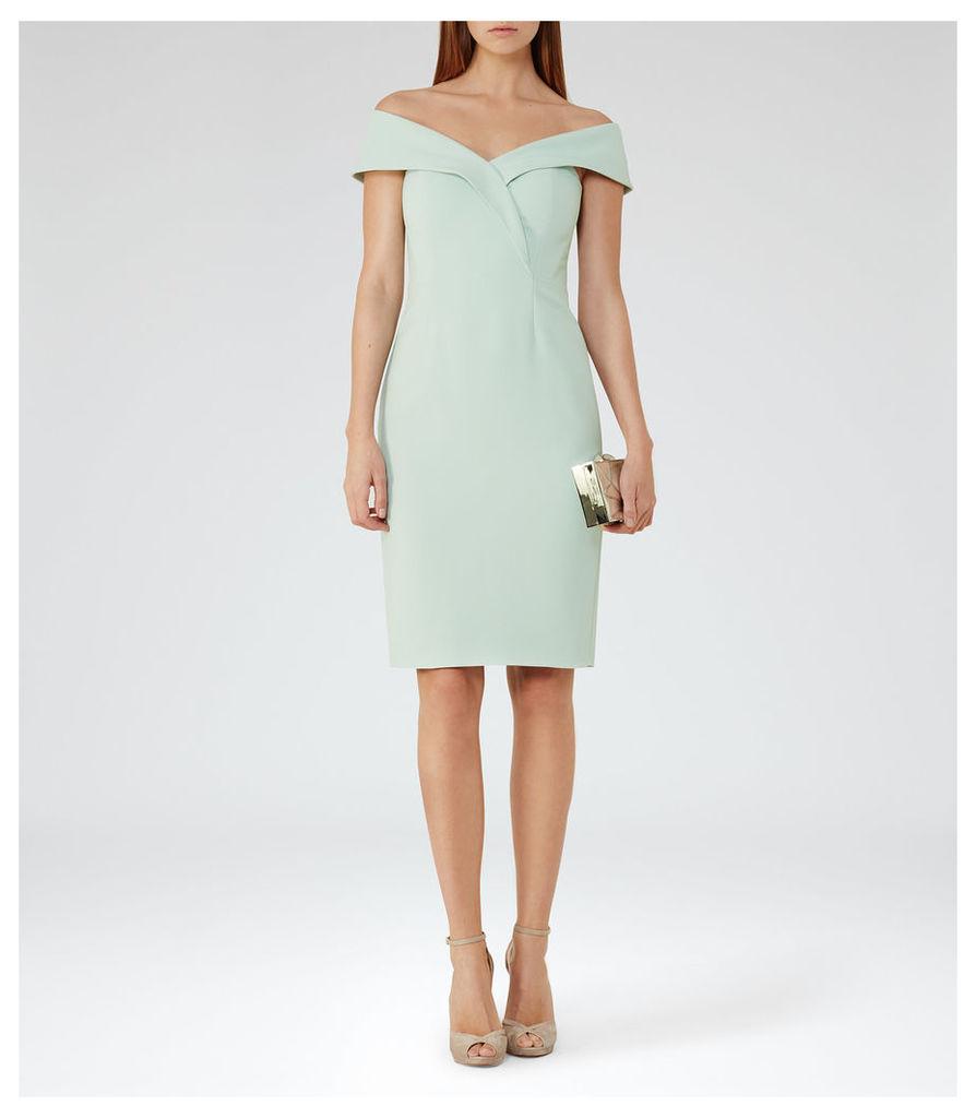 REISS Haddi - Womens Off-the-shoulder Dress in Green