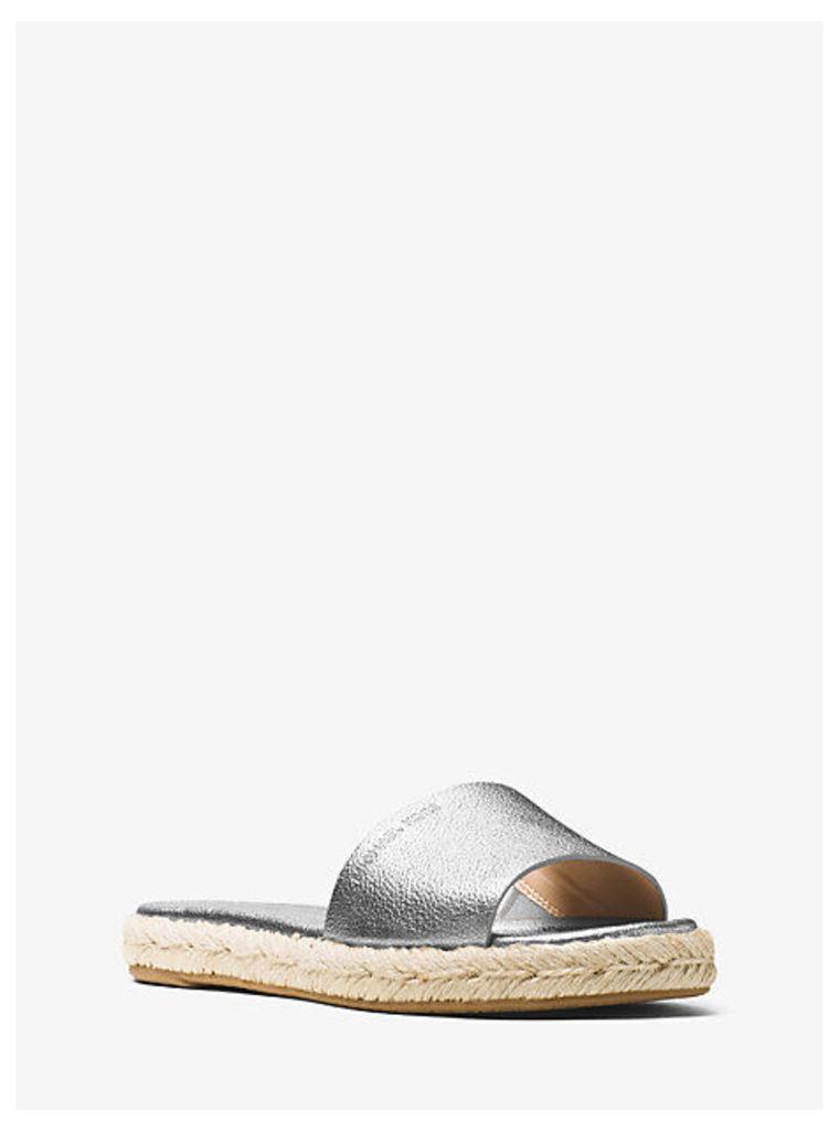 Dempsey Metallic Leather Slide