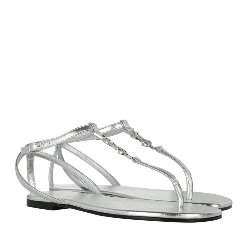 Saint Laurent Sandals - Nu Pied Sandal Calfskin Nappa Silver - in silver - Sandals for ladies