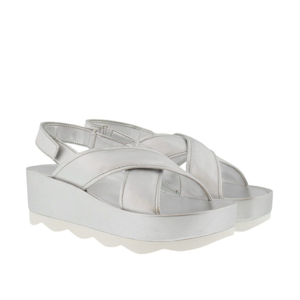 Prada Sandals - Wave Plateau Sandals Silver - in silver - Sandals for ladies