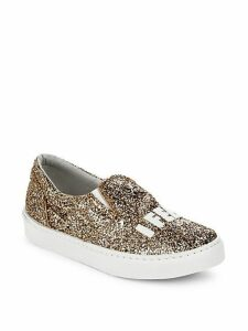Glittery Round-Toe Sneakers