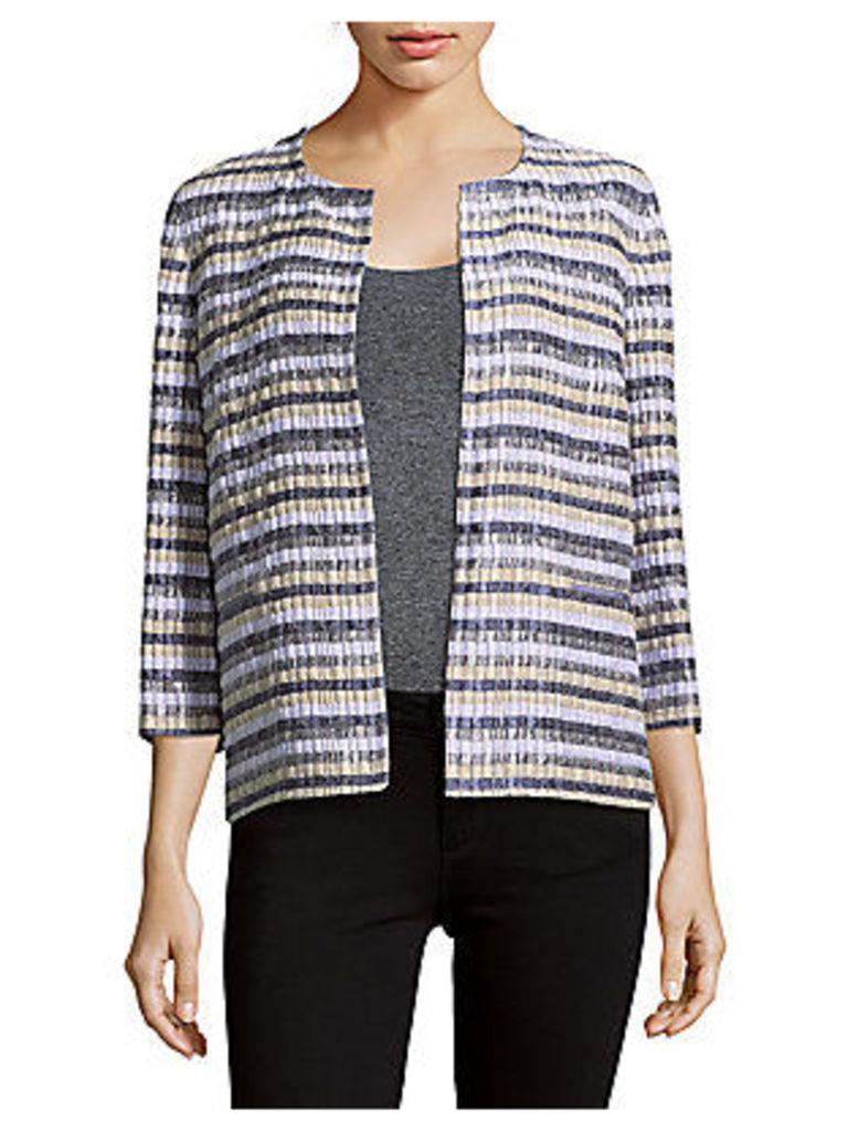 Alejandra Striped Open-Front Jacket