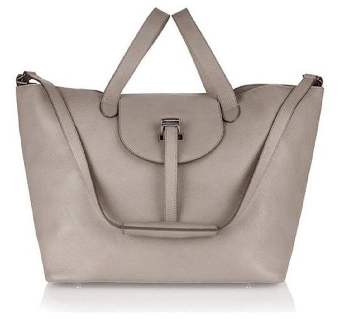 Thela Taupe Tote Bag