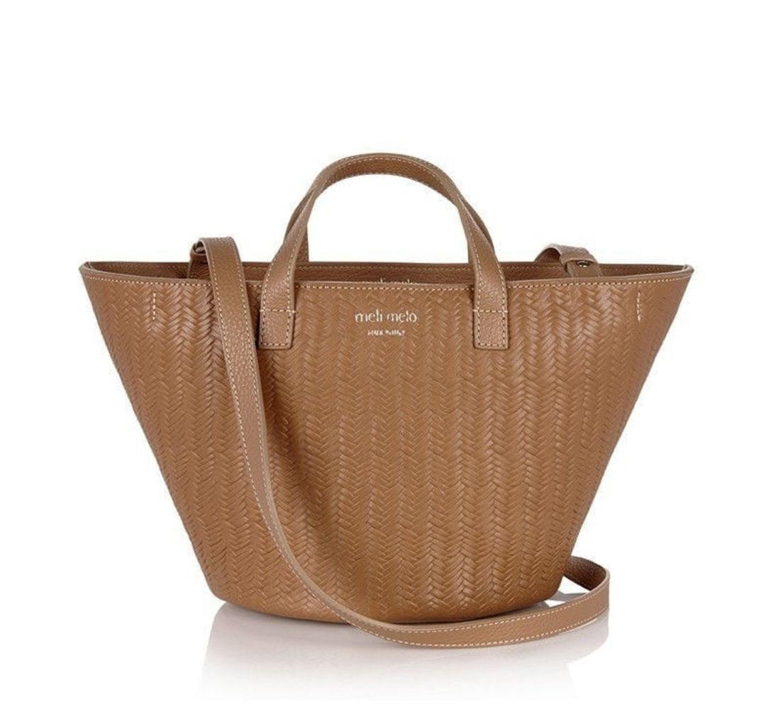 Rosalia Mini Cross Body Bag Light Tan Woven