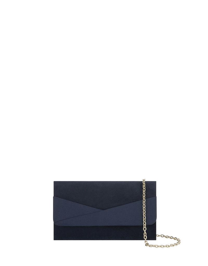 Parker Mixed Material Clutch Bag