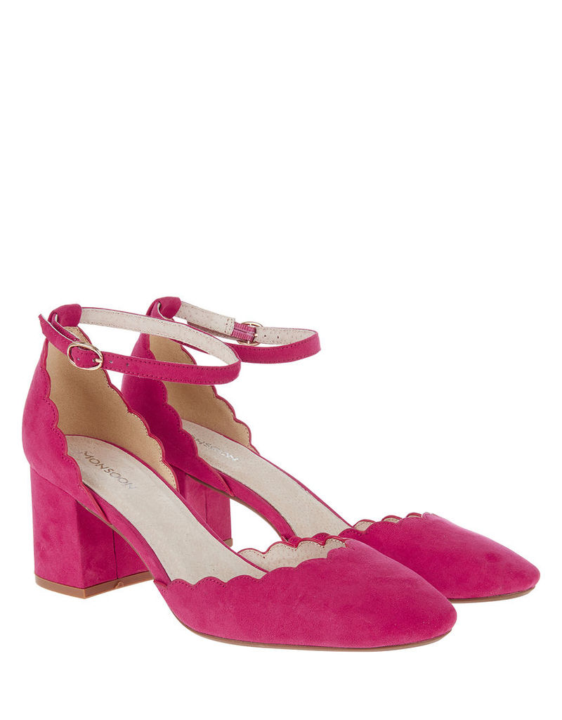 Sasha Square Toe Two Part Court Shoes