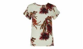 Cactus Print Silk Top