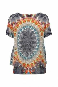 Kaleidoscope Print Top