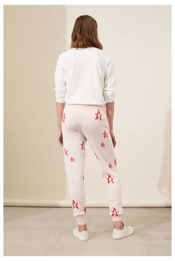 NEW Blush 3D Star Cashmere Track Pants