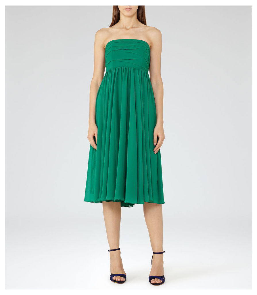 REISS Athena - Womens Strapless Layered Dress in Green