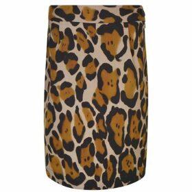 Vivienne Westwood Anglomania Leopard Printed Mini Pencil Skirt