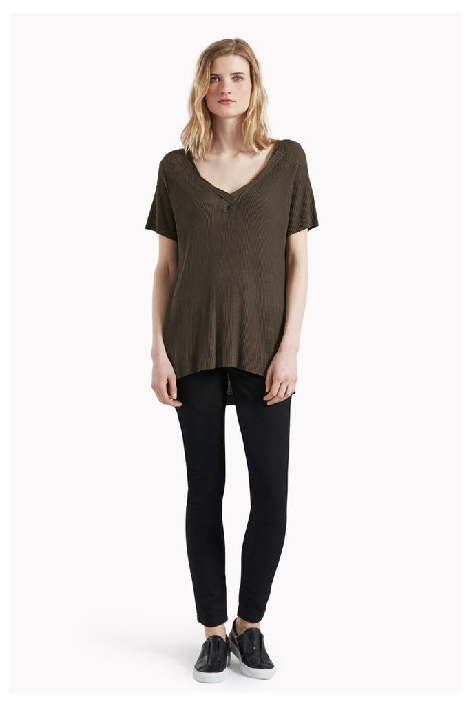 Phoebe Knit Twisted Detail Top