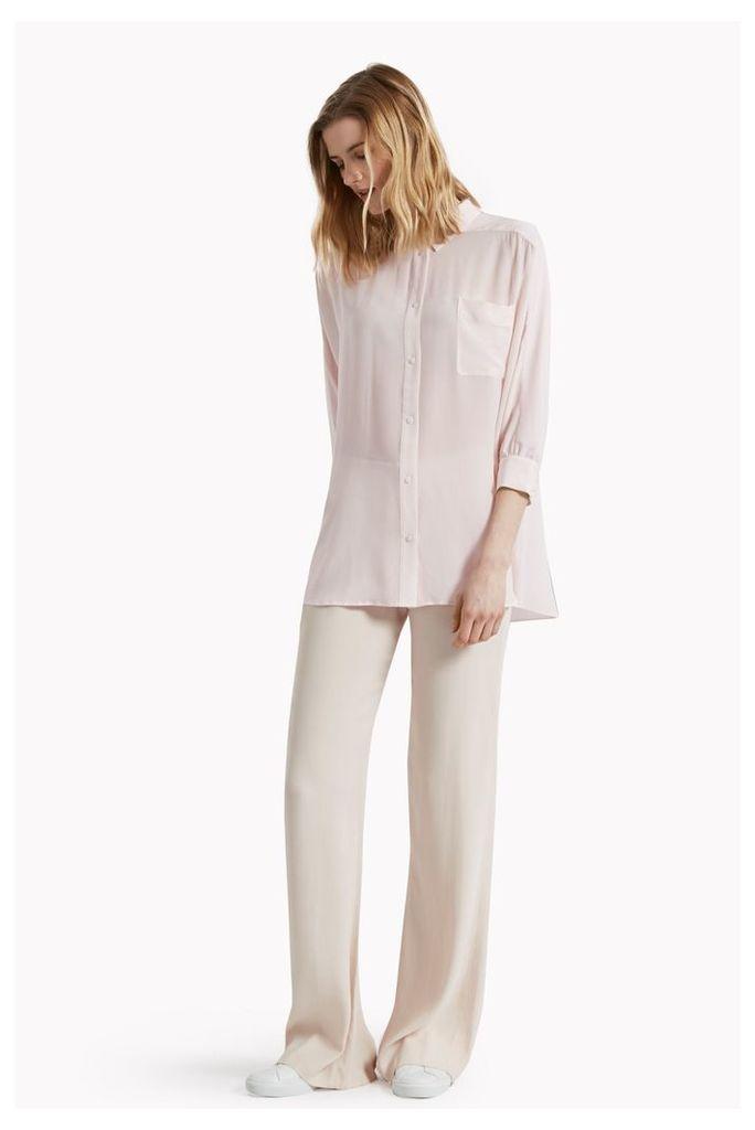 Sophie Silk Batwing Sleeve Oversized Shirt