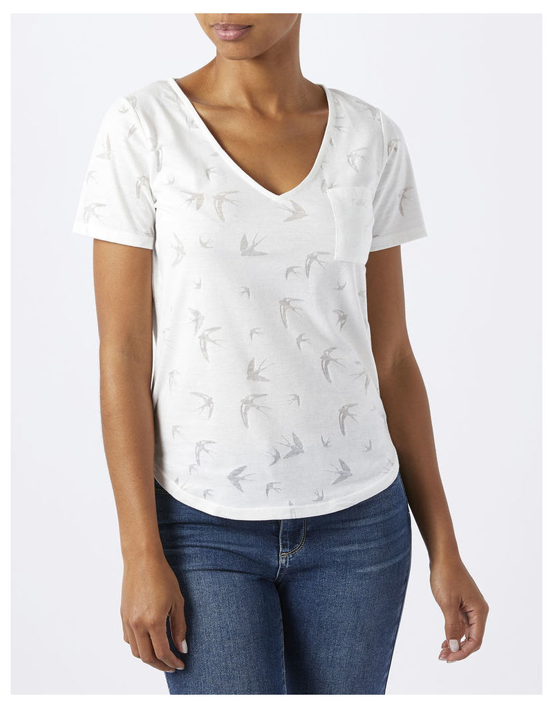 Buttercup Swallow Burnout Tee