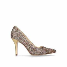 Nine West Flagship - Gold Rainbow Glittered Court Shoes