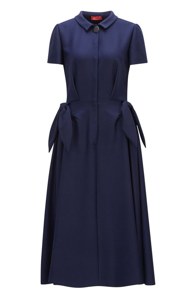 Shirt dress in stretch fabric