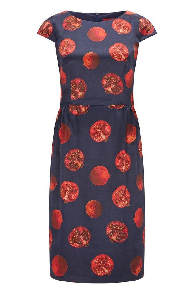 Regular-fit printed dress in fluid fabric