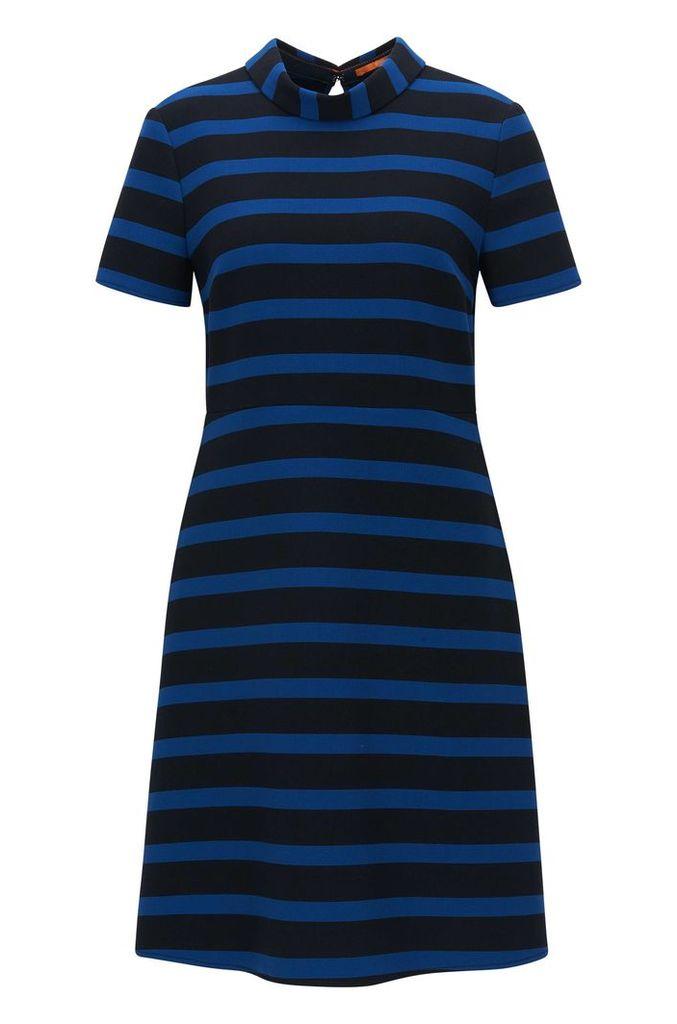 Regular-fit A-line dress in stretch fabric