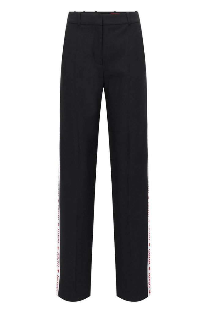 Oversized-fit trousers in technical crêpe