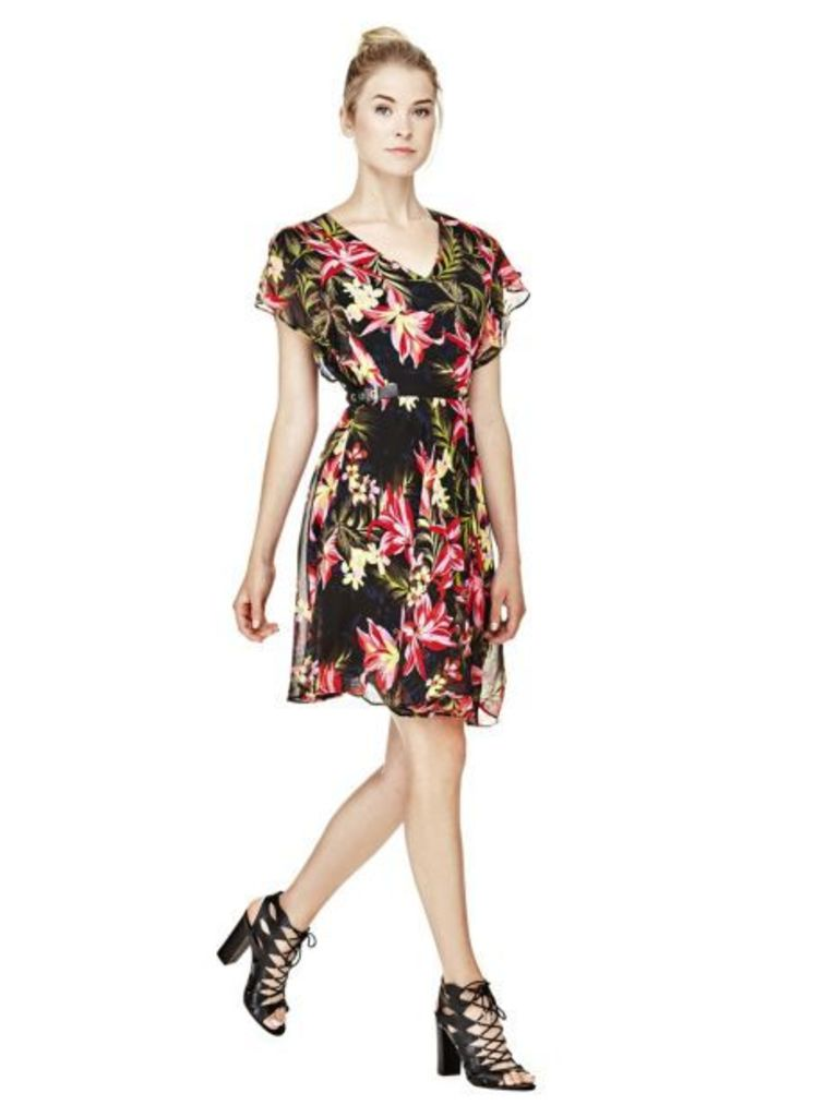 Guess Dress With All-Over Print