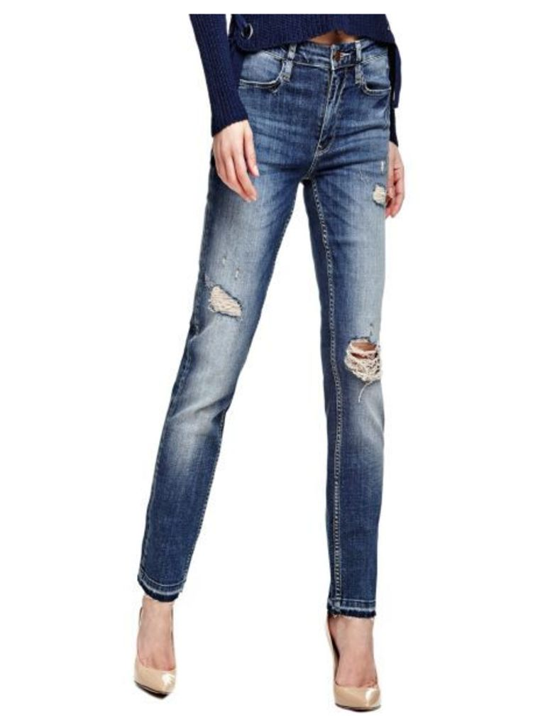 Guess Slim Jeans With Abrasions