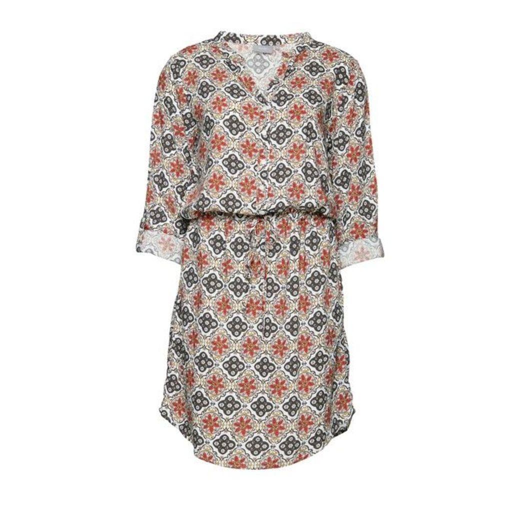 Printed 3/4 Sleeve Dress