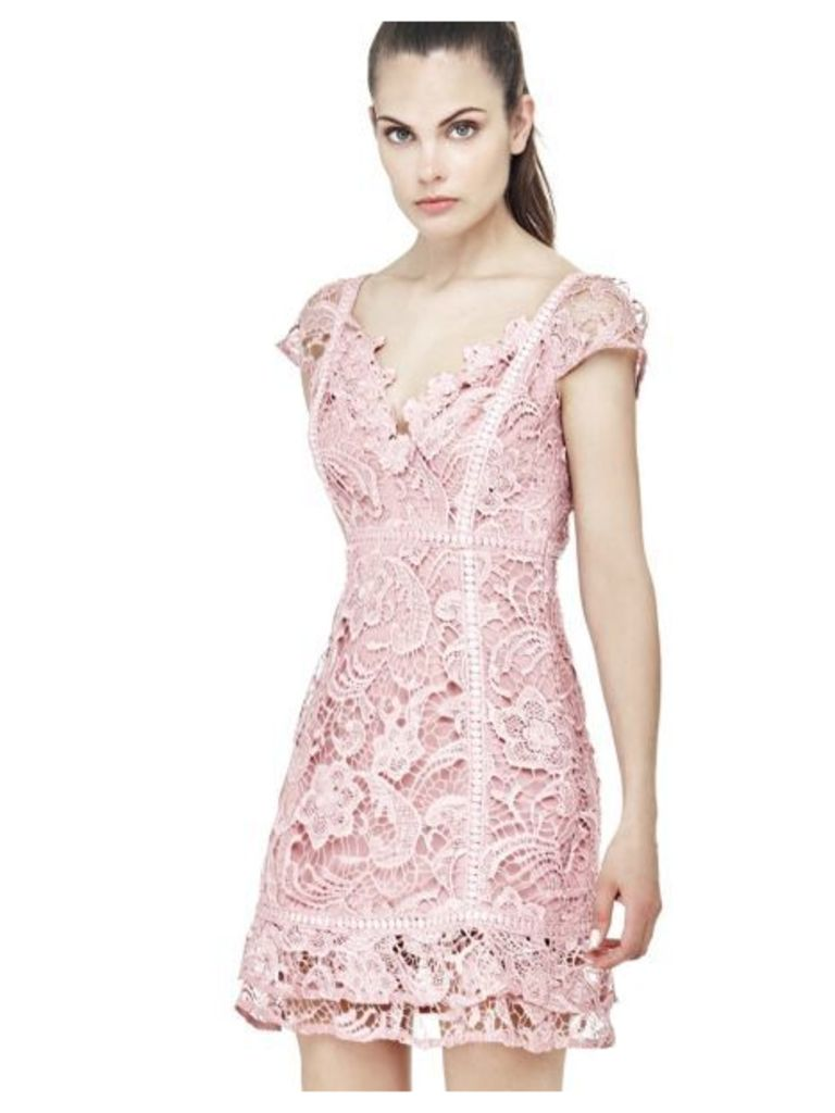 Guess Floral Dress With Lace