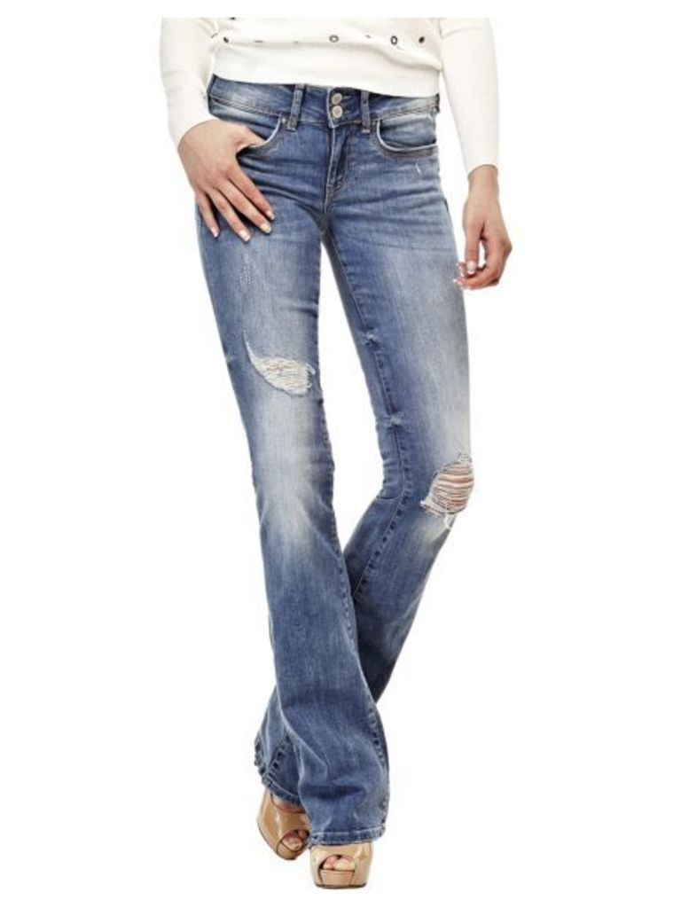 Guess Flared Jeans With Abrasions