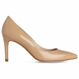 Floret pointed patent-leather courts