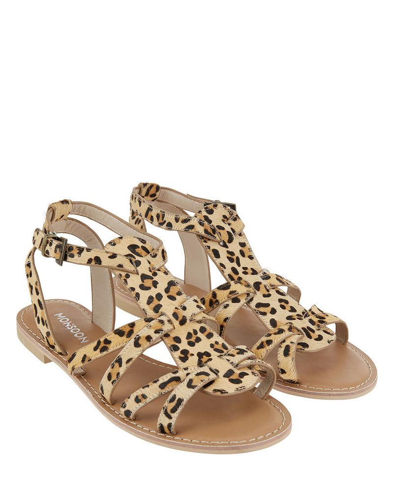 Lulu Leopard Gladiator Sandals
