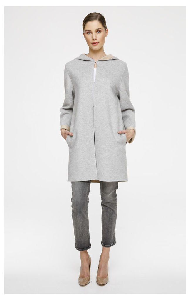 Wool Cashmere Reversible Coat