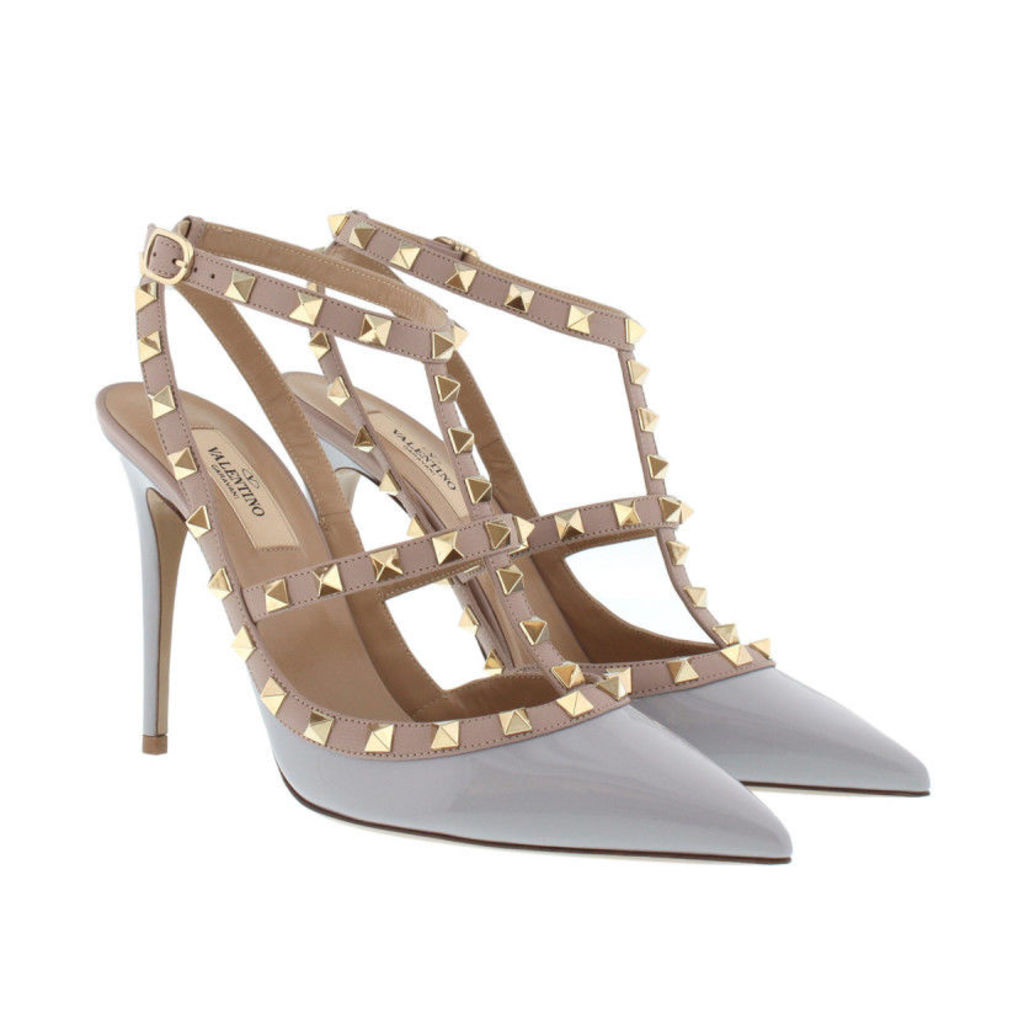 Valentino Pumps - Rockstud Ankle Strap Pump Pastel Grey/ Poudre - in grey - Pumps for ladies