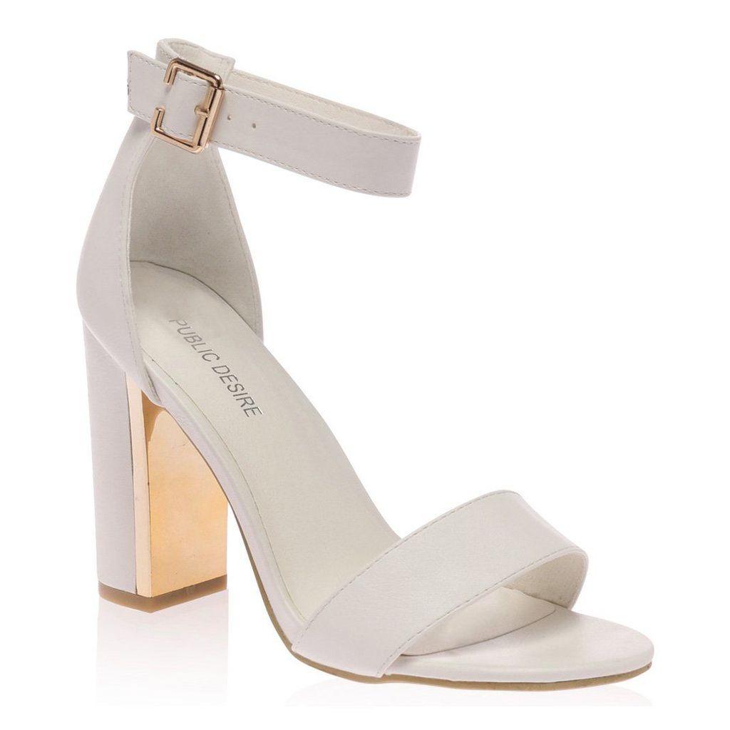 Alana  Block Heeled Sandal, White