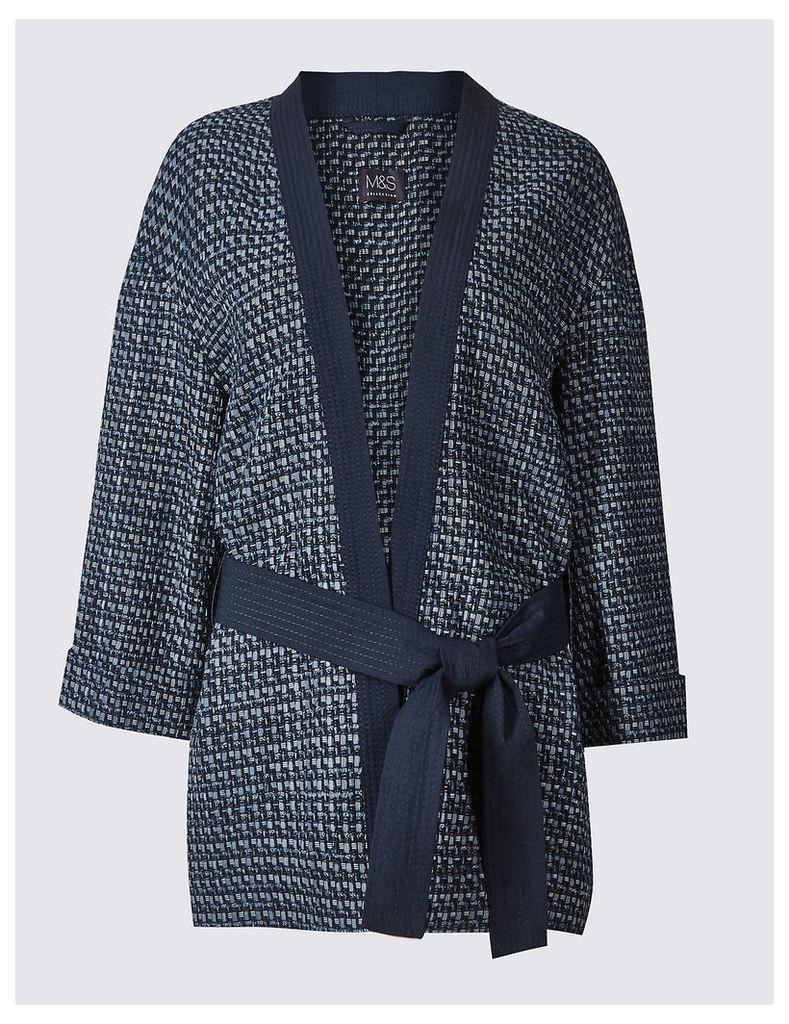 M&S Collection Cotton Rich Textured Wave Judo Jacket
