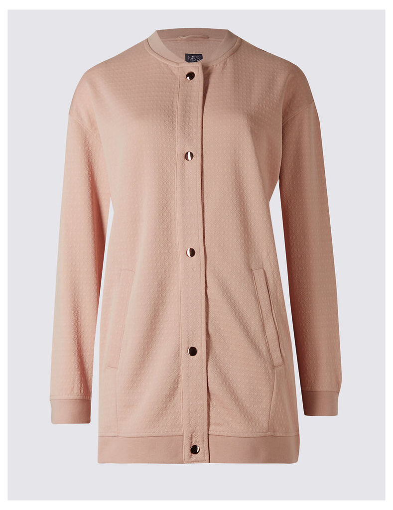 M&S Collection Longline Jersey Bomber Jacket