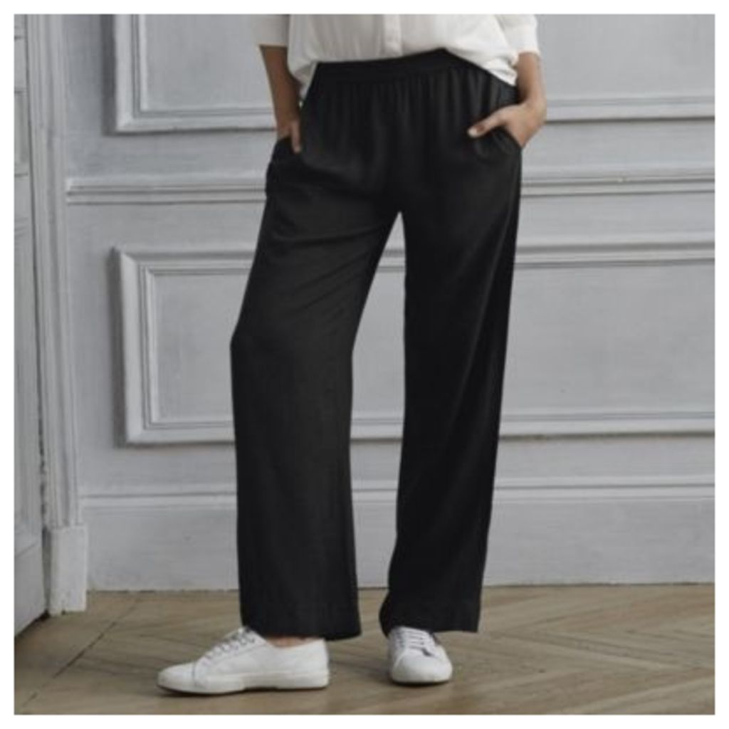 Wide Leg Draped Trousers