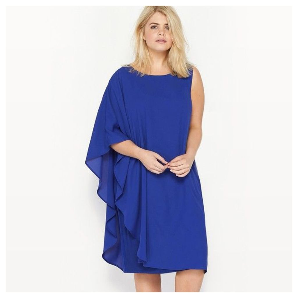 Sleeveless Asymmetric Dual Fabric Dress
