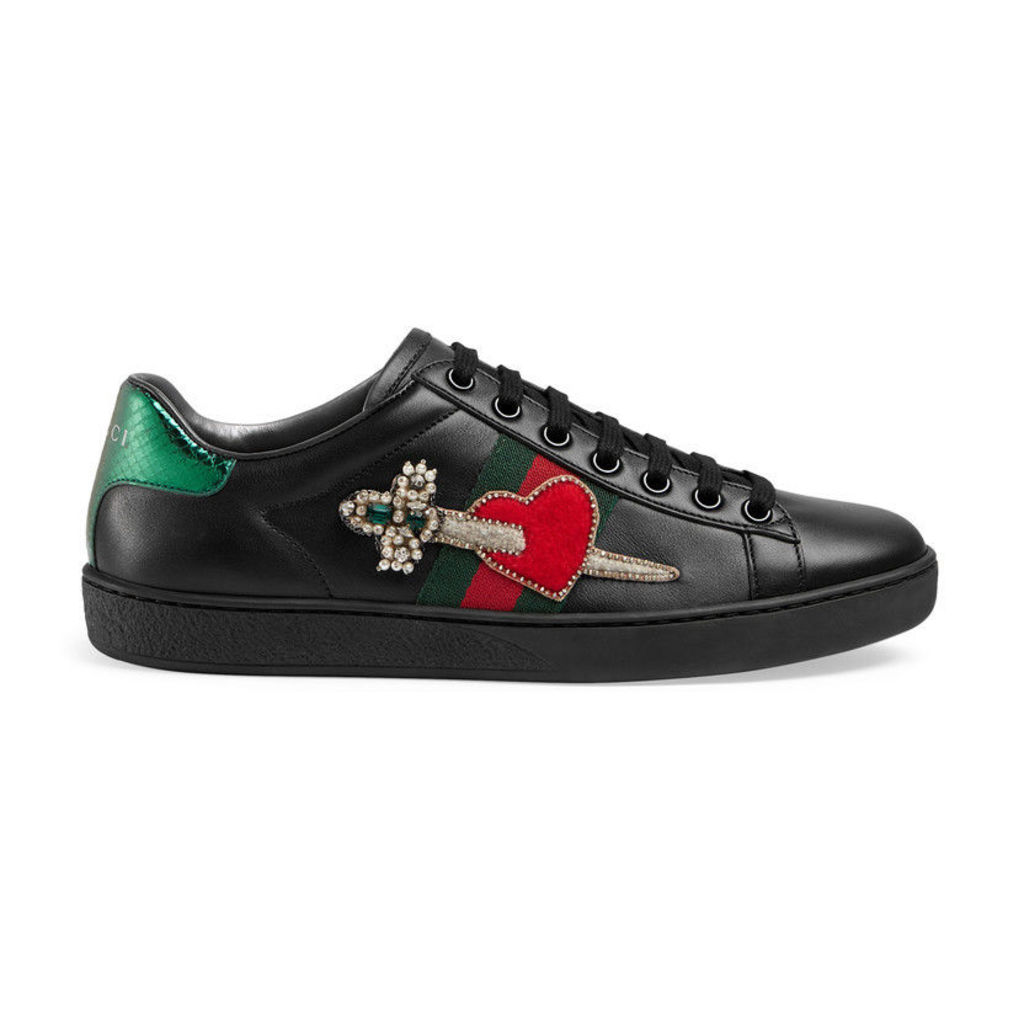 Ace leather embroidered sneaker