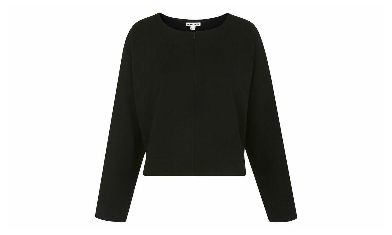 Zip Front Relaxed Sweatshirt