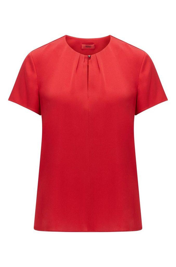 Regular-fit top in a silk blend