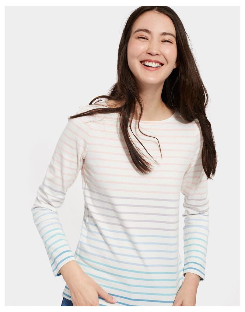 Cream Ombre Stripe Harbour Jersey Top  Size 18 | Joules UK