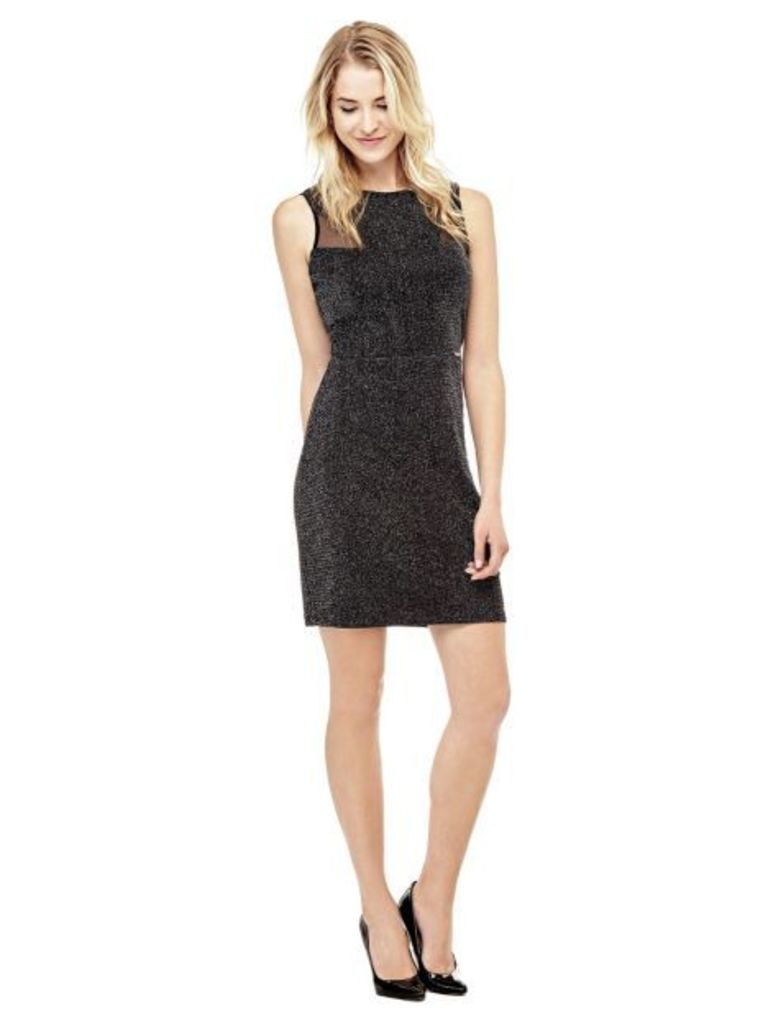 Guess Dress With Mesh-Look Inserts