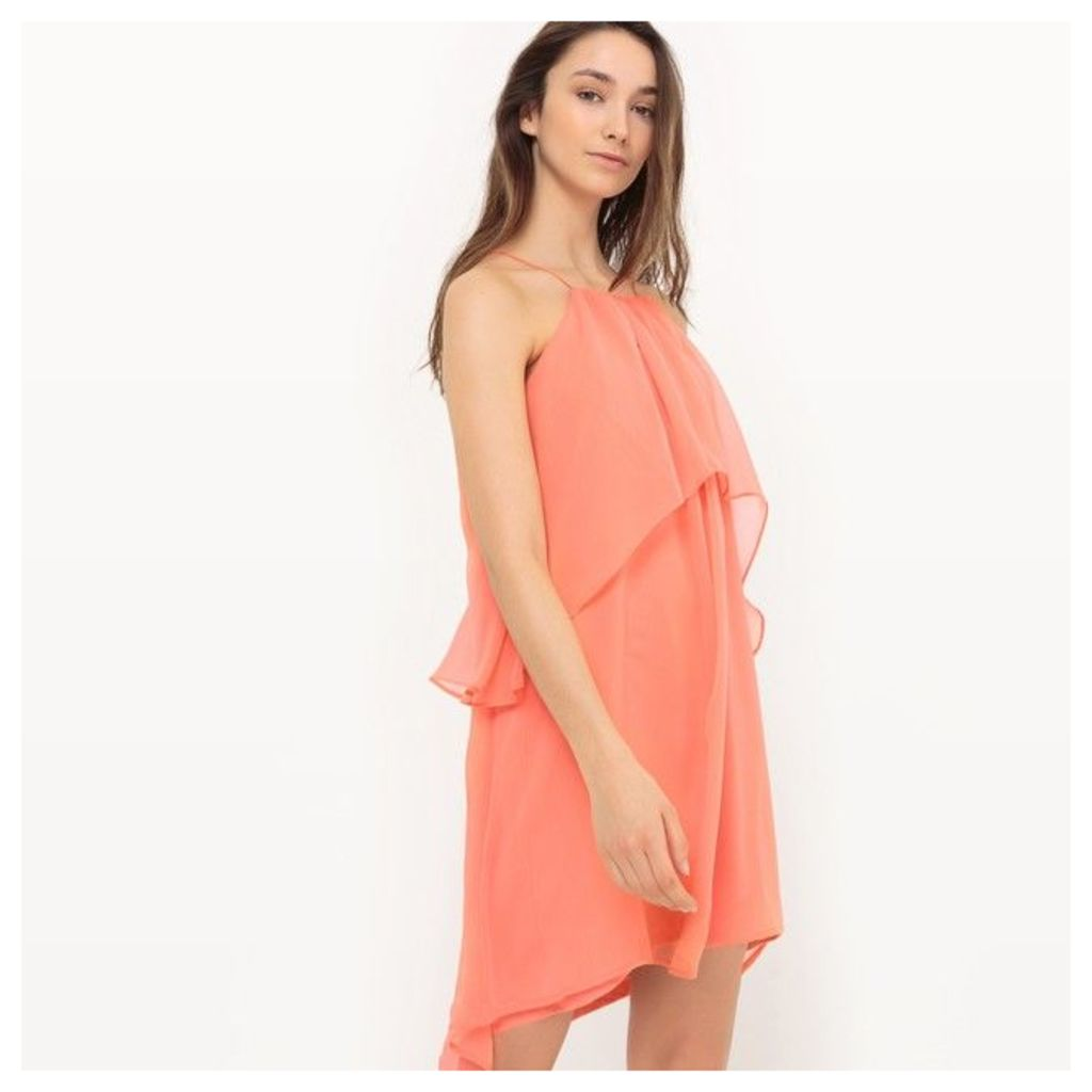 Dress with Shoestring Straps