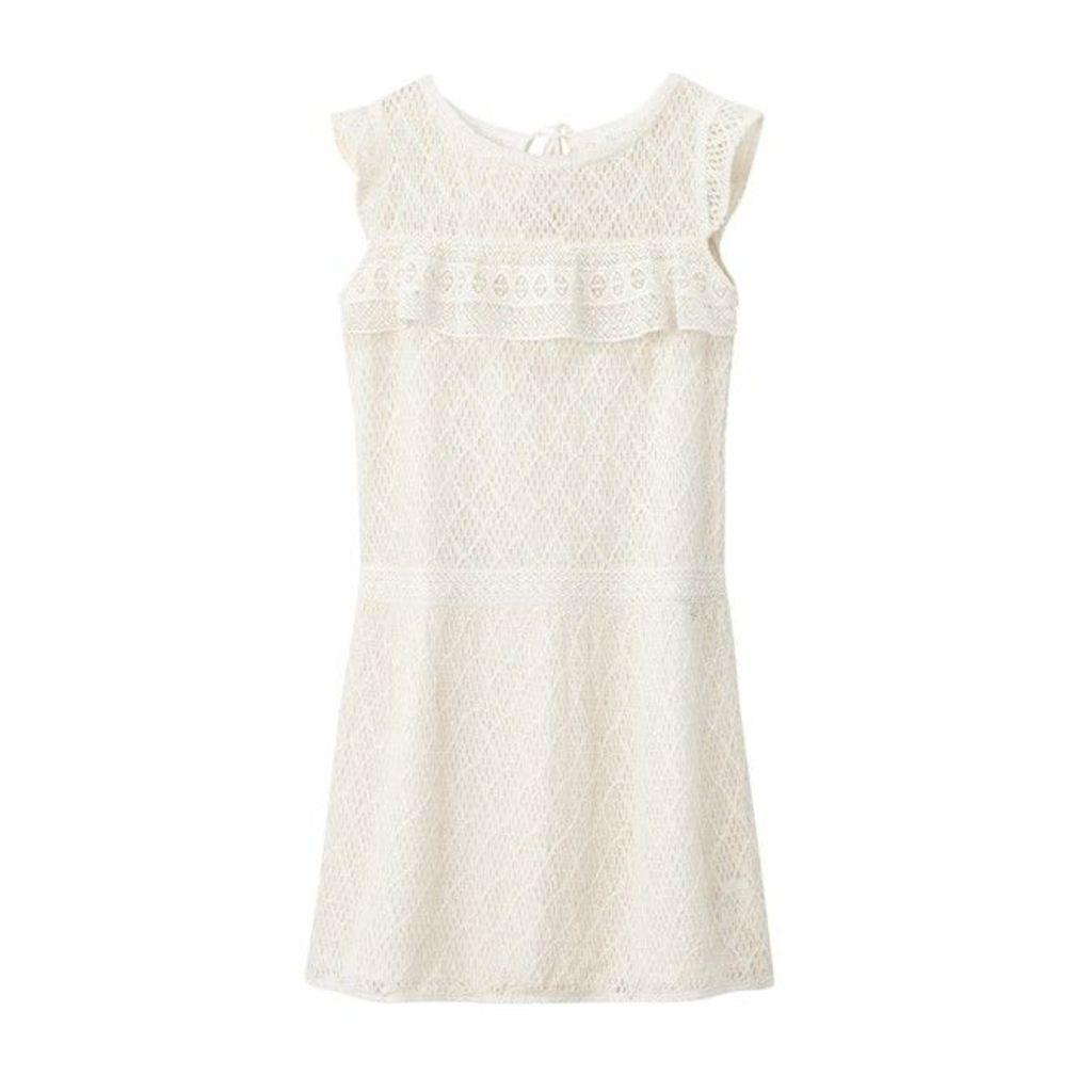 Plain Short Dress with Short Sleeves