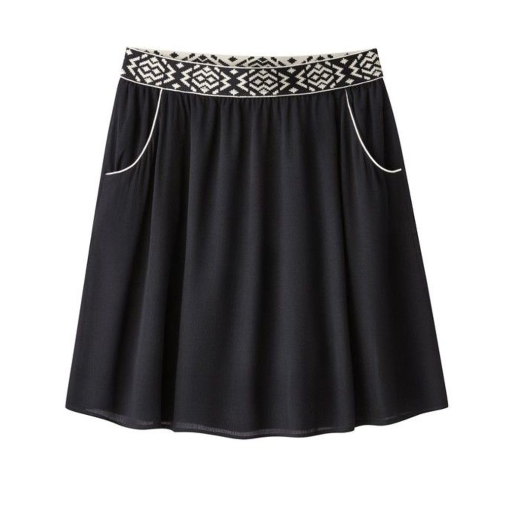 Elasticated Waist Draped Skirt